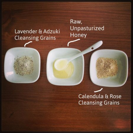cleansing grains and honey