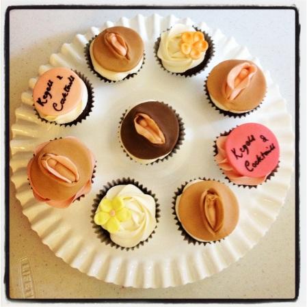 vulva cupcakes